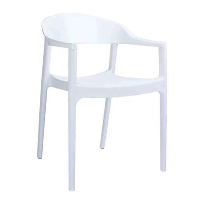 Εικόνα της Πολυθρόνα Πολυπροπυλενίου Ακρυλική 4τμχ Carmen White Glossy White 54X51X80εκ.