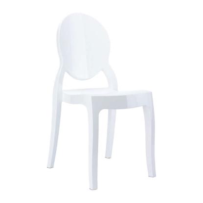 Εικόνα της Καρέκλα Ακρυλική 4τμχ Baby Elizabeth Glossy White 30Χ34Χ63εκ.