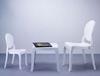 Εικόνα από Καρέκλα Ακρυλική 4τμχ Baby Elizabeth Glossy White 30Χ34Χ63εκ.
