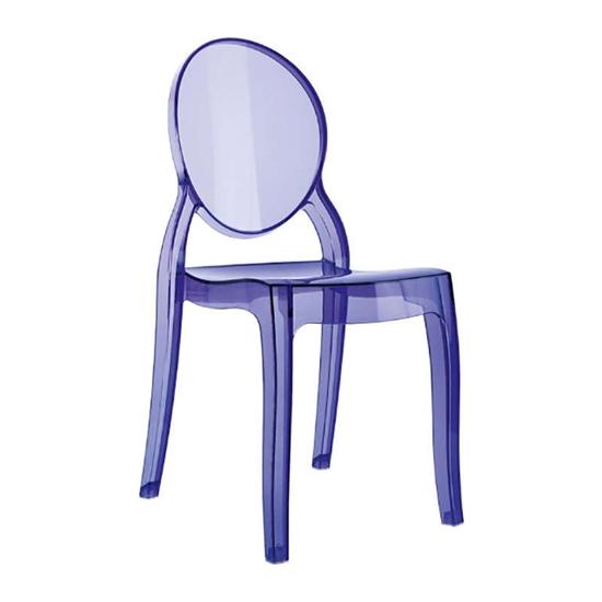 Εικόνα από Καρέκλα Ακρυλική 4τμχ Baby Elizabeth Violet Transparent 30Χ34Χ63εκ.